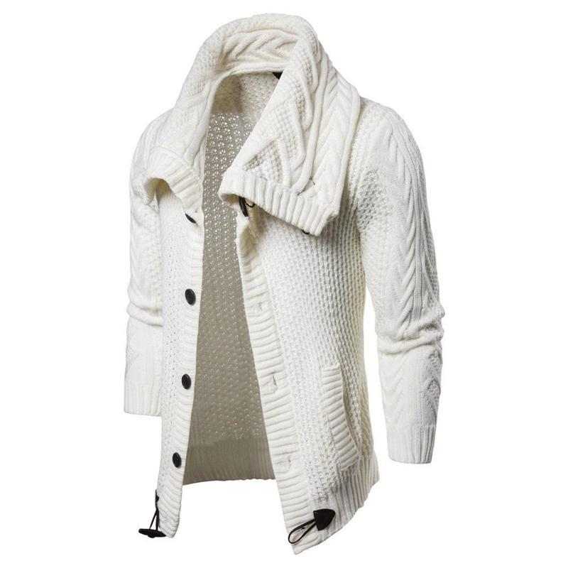 Мужской вязаный отворот с длинным рукавом водолазка для водолазки Turtleneck сплошной цвет обычный свитер 201124