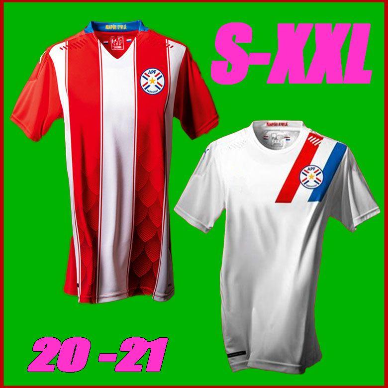 Yeni 2020 Paraguay Futbol Formaları 20 21 Ulusal Takım Eve Uzakta Camiseta De Fútbol APF Erkekler Futbol Gömlek