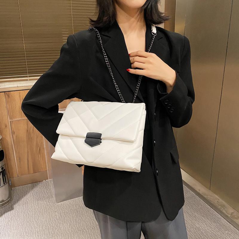 Saco de moda Um saco crossbody principal V-line para mulheres saco de ombro feminino bolsas e bolsas com alça