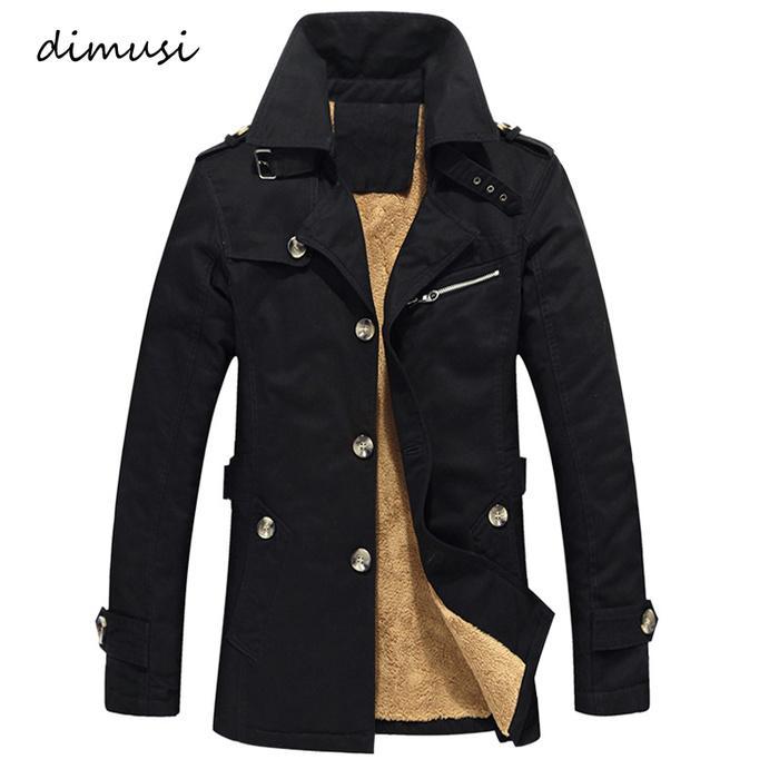 Men's Winter Jacket Fashion Windbreaker Military Army Waterproof Men Long Thick Fleece Warm Trench Jacket Coats kg-16