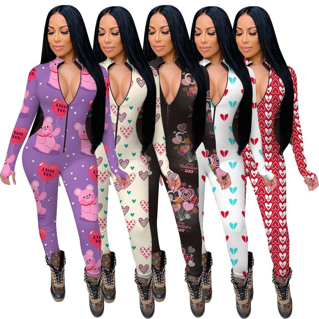 2020 Antumno Designer Designer Abbigliamento moda Solid Color Tuta Colore Casual Sports Suit Slim manica lunga a maniche lunghe rosa moda Onesies Rompere DHL