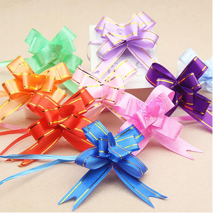 Pull Bow Ribbon Decoration Birthday Party Wedding Car Flowers Balloon Red Wine Gift Packaging Different Color And Size YHM945