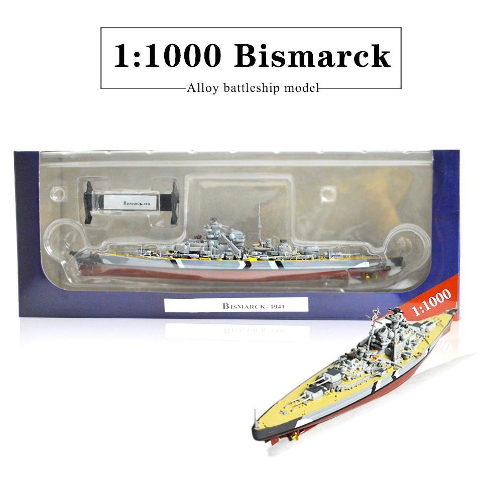 Bismarck Modeli 1: 1000 Battleship Dünya Gemi Savaşı USS Missouri HMS Hood Alaşım Işçiliğinin Koleksiyonu bitirdi