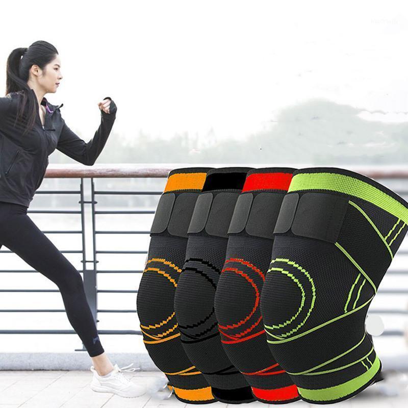 Cotovelo joelho almofadas 1Pair apoio protetor kneepad pressurizado cinto de cinta de brace em funcionamento voleibol futebol de futebol on-line recoverend1
