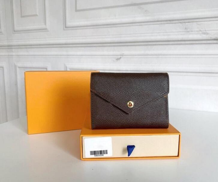 Carteira Clássica Luxurys Bag Moda Embreagem De Bolsas Bag Carteira Bolsa Pallas Designers Cartão Titular Portafoglio Victorine Box Poeira W Ljvgj