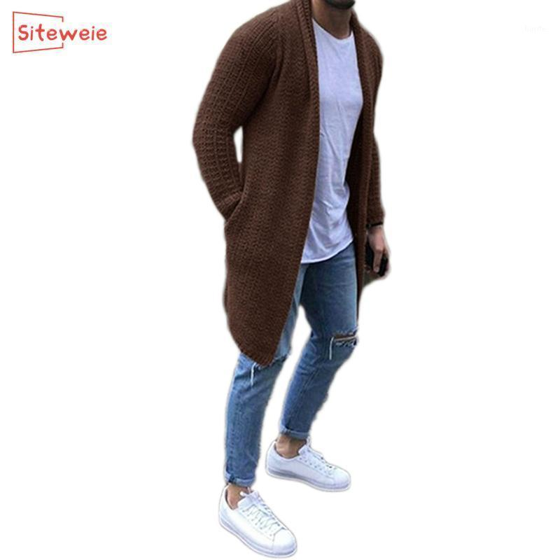 SITEWEIE Knitted Sweater Men Cardigan Winter Fashion Casual Sweater Men High Quality Jacket Solid Color Knitwear G5961