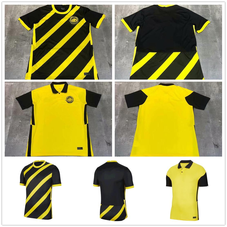 20 21 National Team Malaysia Football Jersey Bakhtiar Safawi Rasid Talaha Norshahrul Ldlan Custom 2021 Home Yellow Away Black Soccer Shirt