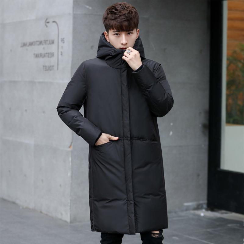 2020 новая толстая зимняя мужская куртка бренд одежда с капюшоном черная Гэри длинная теплый белый утка вниз пальто мужской глаус северный день