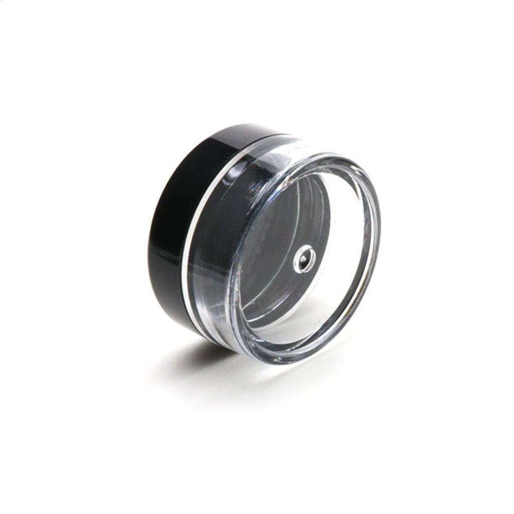 5G / 5ML de alta calidad de plástico transparente contenedor cosmético frascos con tapas negras Cosmetic Cream Pot Maquillaje Ojo sombra Nails Joyería