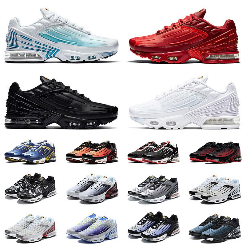 2021 New Quality Tuned Plus III Tn 3 Triple Black Laser Blue Crimson Red Radiant Mens Women Running Shoes ALL White Trainers Sneakers