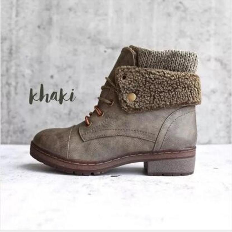les femmes bottines basses chaussures talons femme vintage PU cuir automne chaussures de chaussures chaudes d'hiver femme Zapatos mujer sapato D2272