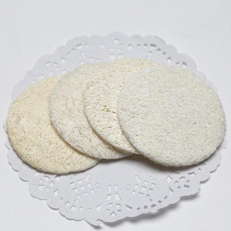 500pcs 5,5 centímetros seis centímetros sete centímetros Natural Loofah Facial Pads Loofah Disc Makeup Remover Esfoliante de Rosto Pad Small Size Luffa Loofa JF j6Qy #