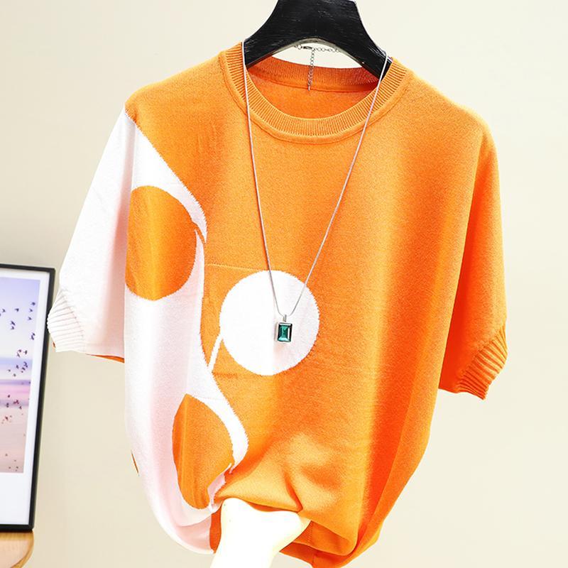 Kilitler Örme Hit Renk T-shirt Kore Tarzı Tops Tshirt Kadın Gevşek Kısa Kollu T Shirt Kadın Tee Gömlek Femme Yaz 2020 x 1217