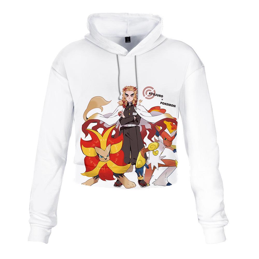 Kadın hiçbir Yaiba harajuku giyim homme yüksek bel 201.008 Japon Anime Hoodie Kadınlar eşofmanı boy sweatshirt Kimetsu giysi