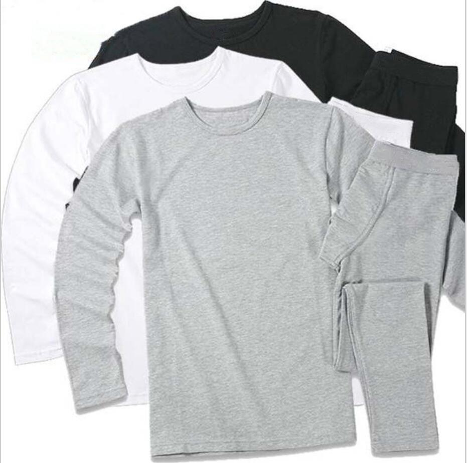 الخريف والشتاء الرجال القطن دافئ بنطلون بدلة ملابس الشباب الحرارية الملابس الداخلية للرجال القطن الخريف الملابس الخريف السراويل مجموعة قميص قاعدة