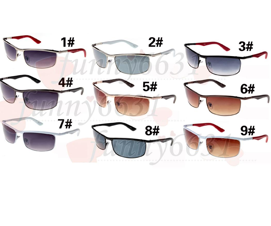 10pcs summer outdoor fashion small sunglasses for man travel glasses men's metal frame sports driving sunglasses 9colors Free Shipping