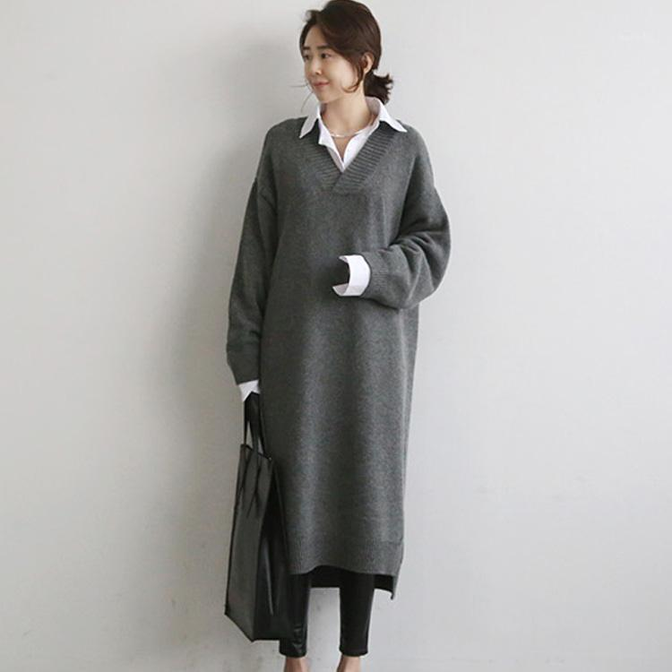 Camisola quente mulheres vestido de outono inverno longo camisola tricotada vestidos longos maxi maxi oversize senhora vestidos bodycon roubos vestidos1