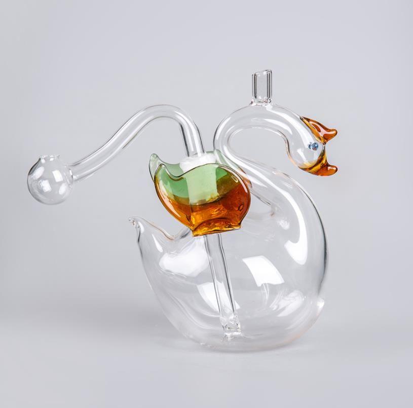 Glass Dab Rigs Multifuncional Burner De Óleo Mini Vidro Cachimbo De Cachorro Tubo Bongo com Cigeratte Holder Hand Craft Art Art Art Frete Grátis