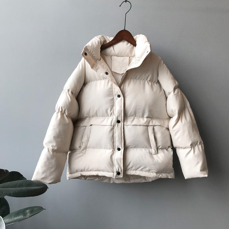 Women Thick Winter Coat Loose Stand Collar Women Jacket Coat Plus Size Women Coat Outerwear Female Casaco Feminino Parkas 201017
