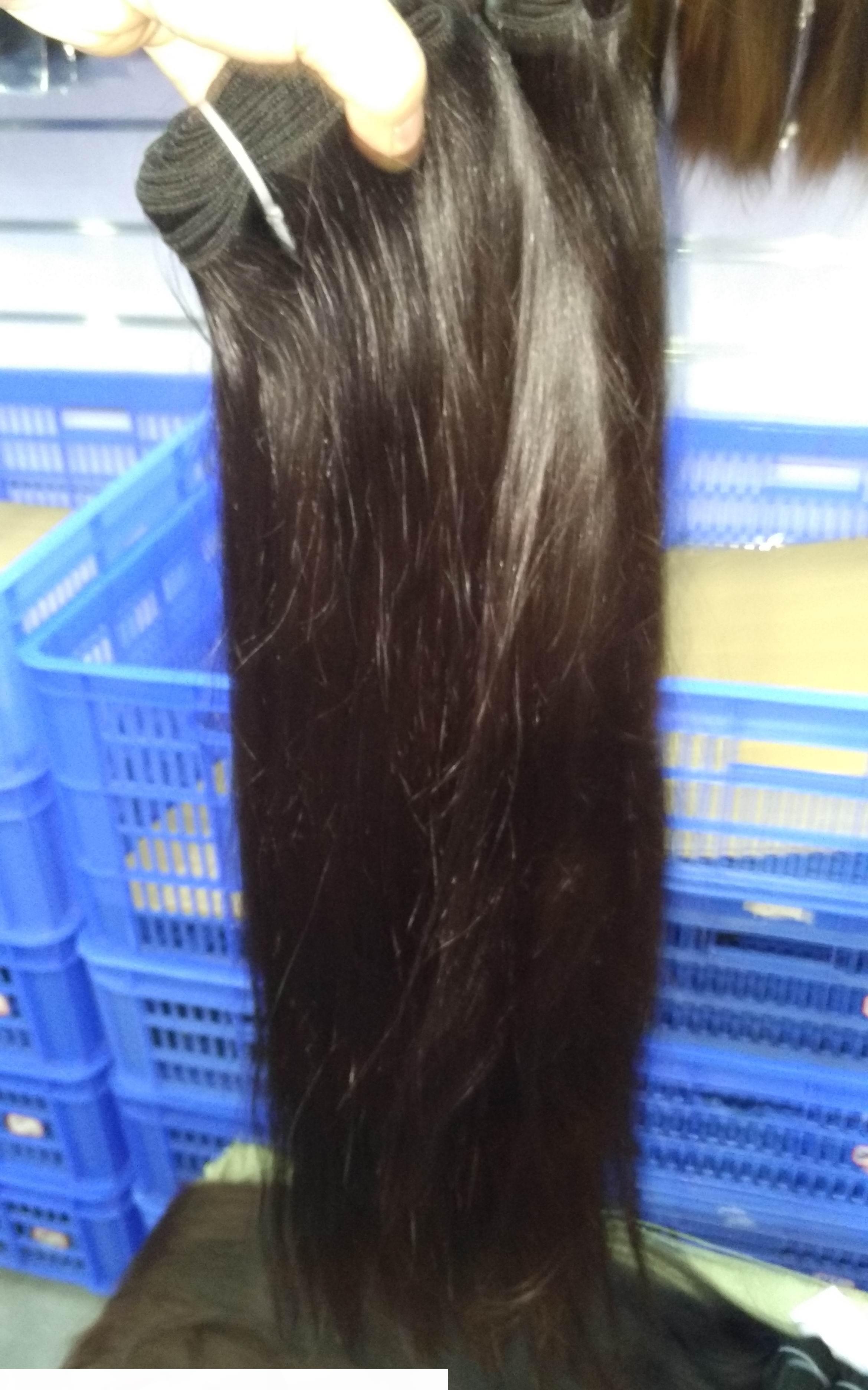 Çift çizilmiş atkılar 13A ham işlenmemiş düz Vietnamca insan saç atkılar 300g lot süper kalite