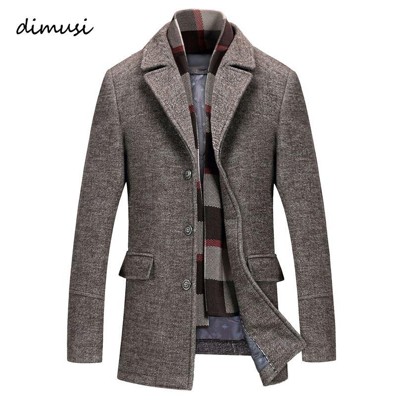 Men Winter Thick Cotton Wool Jackets Coats Male Casual Windbreaker Trench Coats Mens Nylon Business Jackets 5XL
