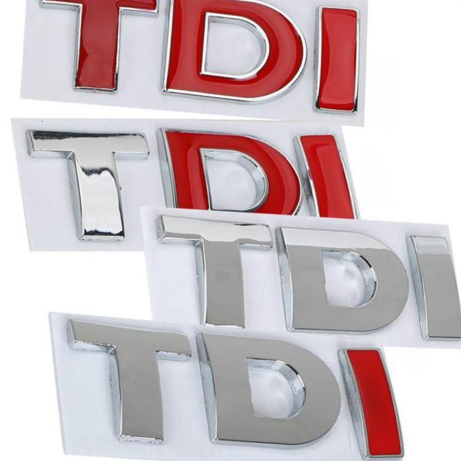 Livraison gratuite ABS TDI Stickers imperméables Émblème de badge en plastique