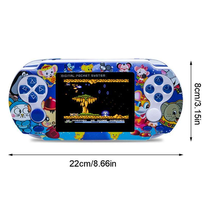 Portátil Duplo Handheld Game Console Video Games Player com alça para PXP3