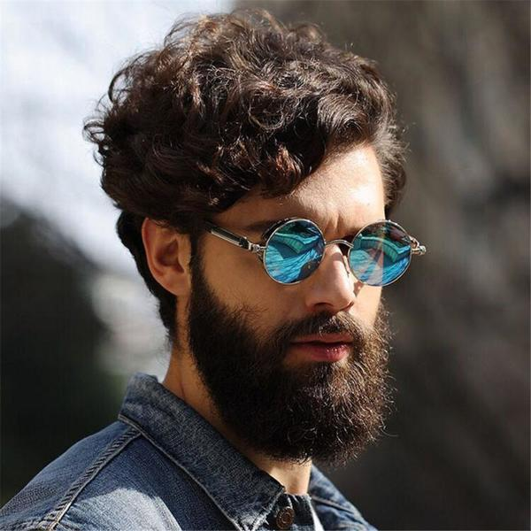 Mirrored Summer Fashion Coating Vintage Punk Polarized Round Style For Retro Womens Mens Sunglasses Fiums