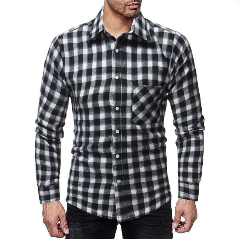 4XL más el tamaño de la túnica para hombre de la camisa de lino sólido básico botón casual camisas de lino de algodón de manga larga