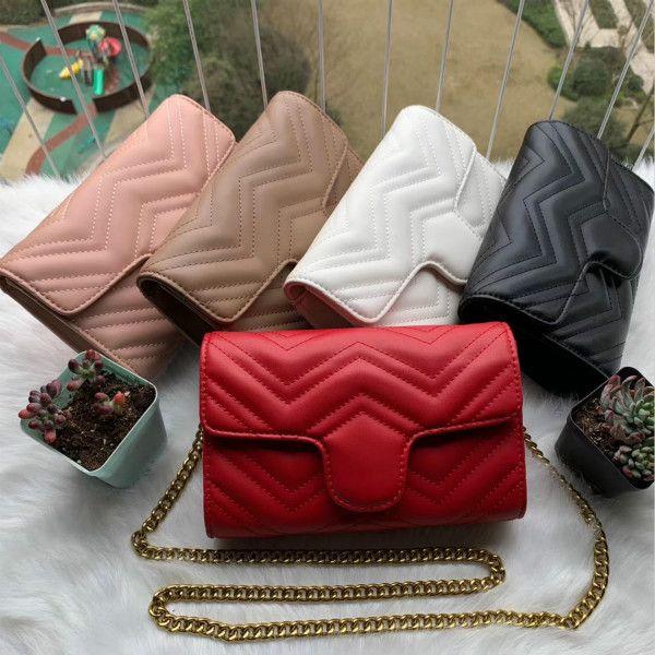 Free Purse Shoulder Female Real Circle Leather Handbags Bags Bag Shiping Women Chain Crossbody Quality High Luxurys Designers Glojf