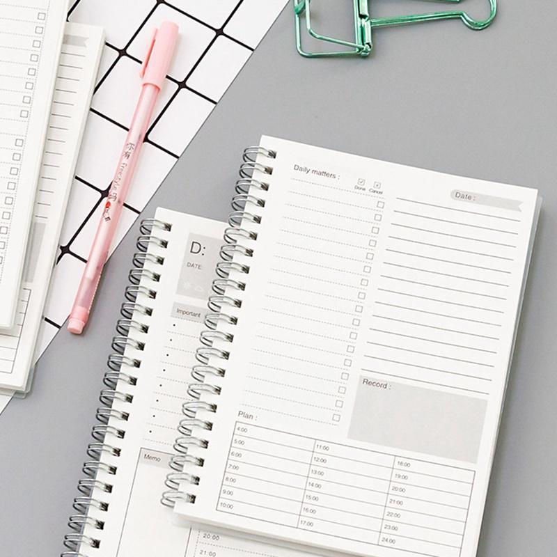 المفكرة 2021 كفاءة محمول مخطط كفاءة دليل اليومي المنظم Libretas ملاحظة الكتب الشهرية جدولة ورق الكرافت Filofax