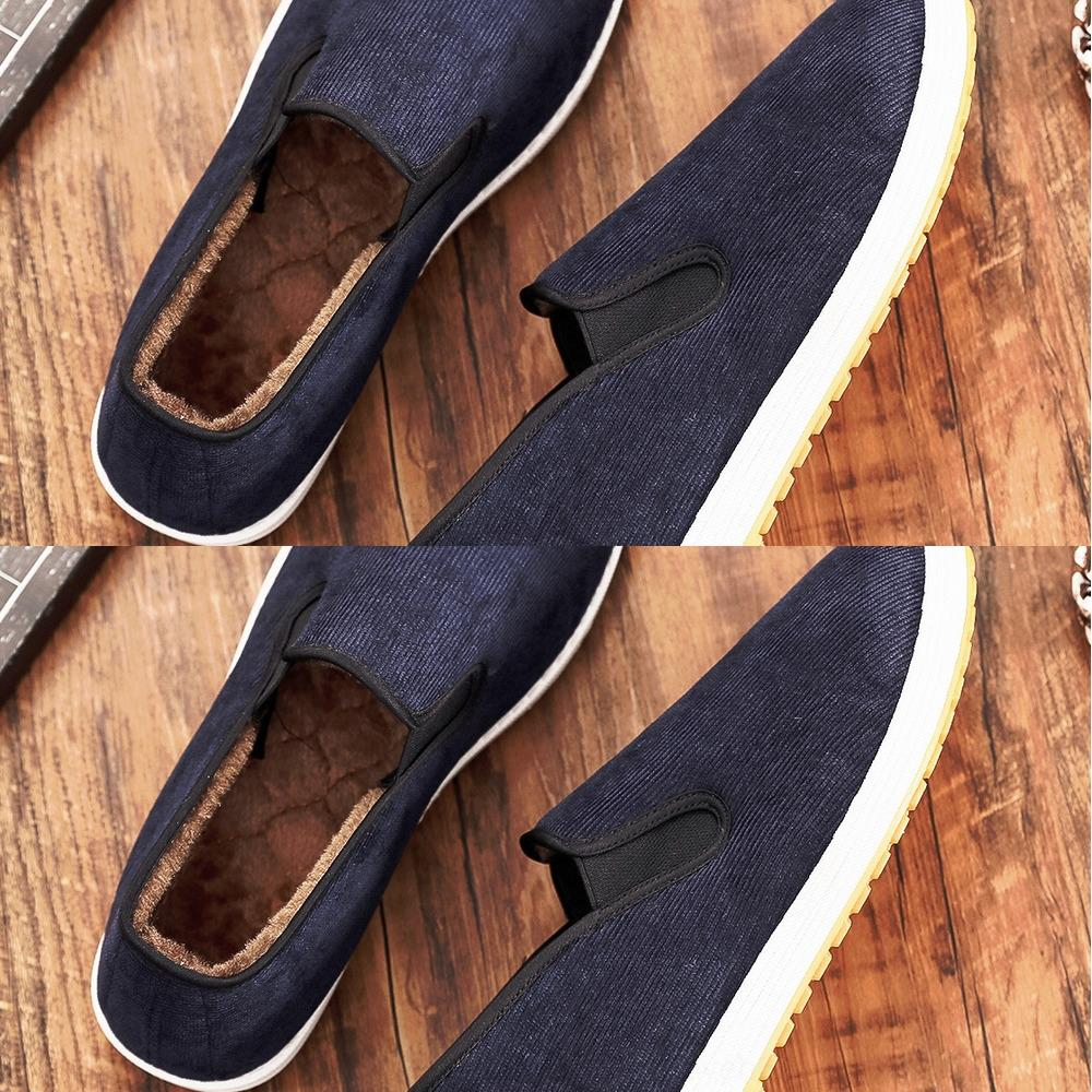 03NOn New winter old Beijing men's low top Plush Warm Cotton shoes cotton shoeslabor protection shoes with thickened and warm beef tendon so