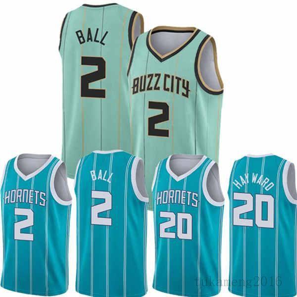 Lamelo 2 Ball Gordon 20 Hayward Basketball Jersey 2021 New CharlotteHornets.Masculino