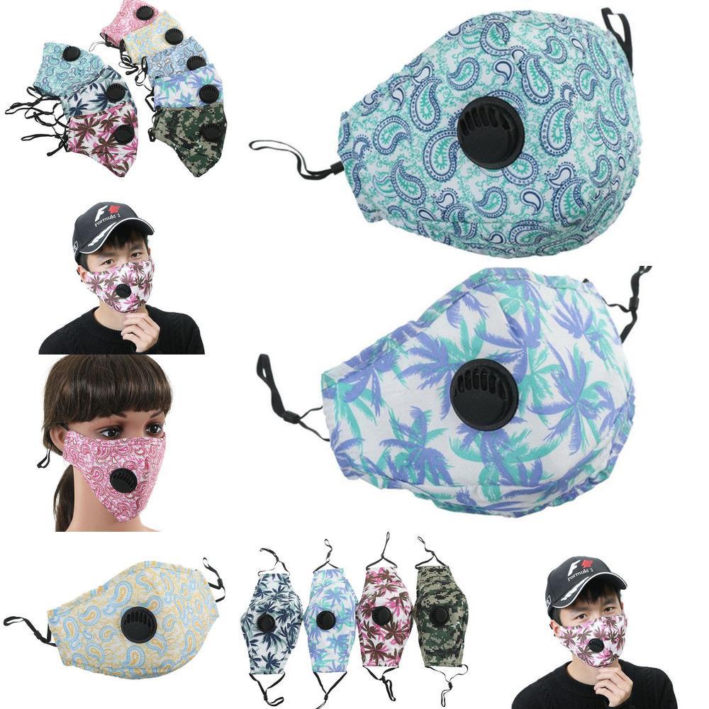 2020 Tasarım Yüz Maskesi Anti-Toz Earloop Solunum Vanası Ile Ayarlanabilir Kullanımlık DHL Ağız Maskeleri Yumuşak Nefes Anti Toz Protew1