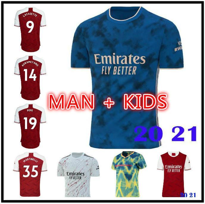 Top Saka Wilian Gabriel Fussball Jersey 20 21 Pepe Nicolas Ceballos Henry Guendouzi Sokratis Tierney 2020 2021 Football Hemd Herren + Kids Kit