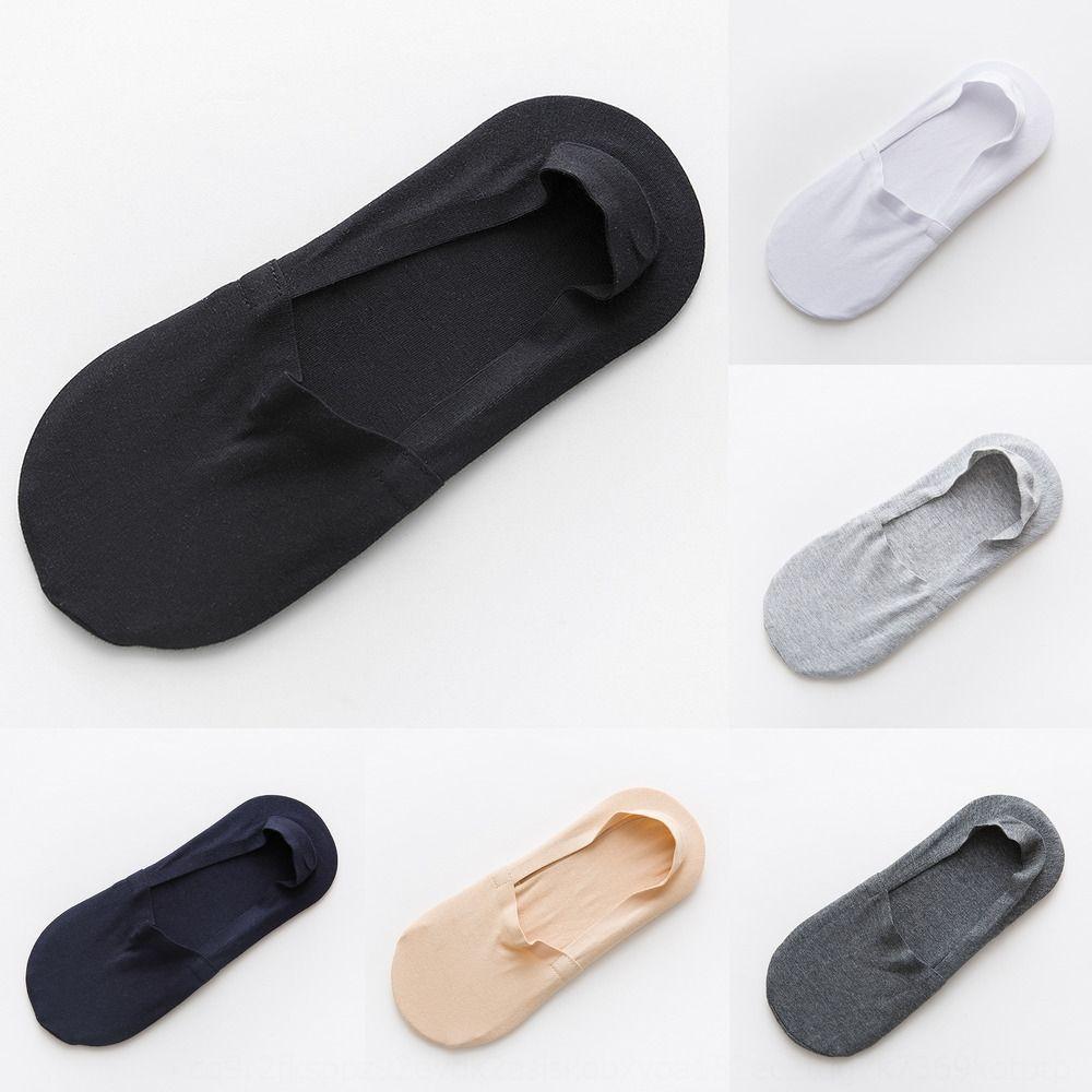 Teefarbe Unsichtbare feste Farbe des Sockssilicone Männer Licht Mund der Männer unsichtbare Socken modal Silikon Antirutsch Bootssocken k97ok