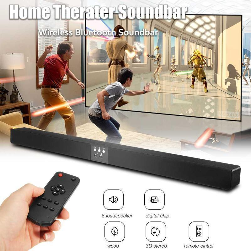 Wireless bluetooth Speaker Soundbar Speaker 108cm TV Sound Bar MP3 3D Stereo Surround Sound Home Theater System Wall Mountable1