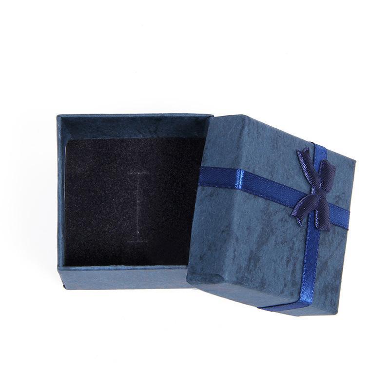 Bow Silk Fita Jóias Caixa Simplicidade Anel Requintado Brinco Padrão Papel Papel Case Valentim Day Presente Venda Quente 0 42BC L2