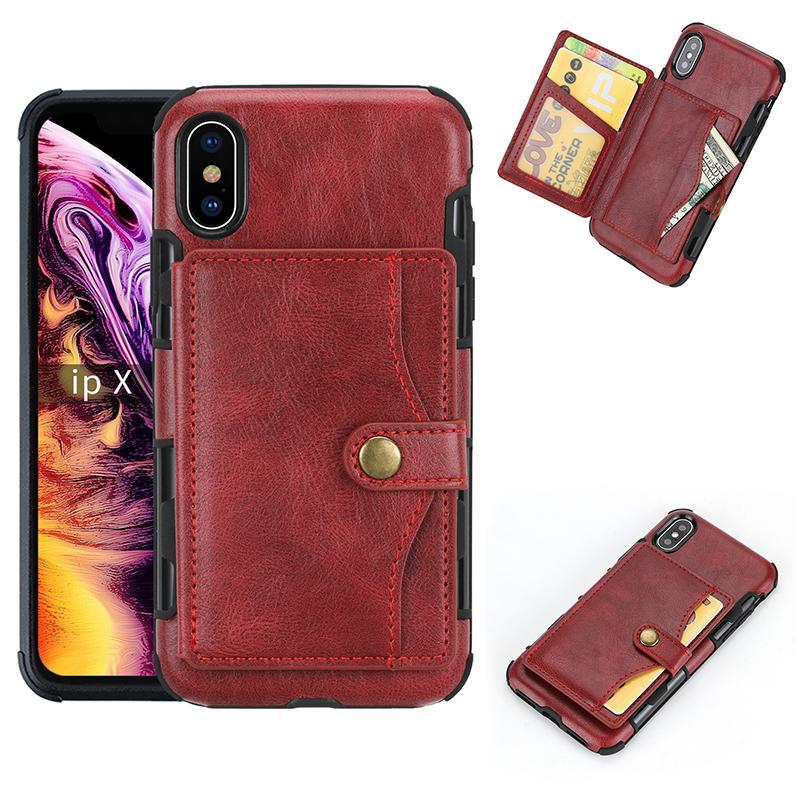Funda para teléfono de cuero de lujo para iPhone12PRO 11 7 8PLUS XS Max XR Wallet Funda telefónica para Samsung S20 Note 10 Plus