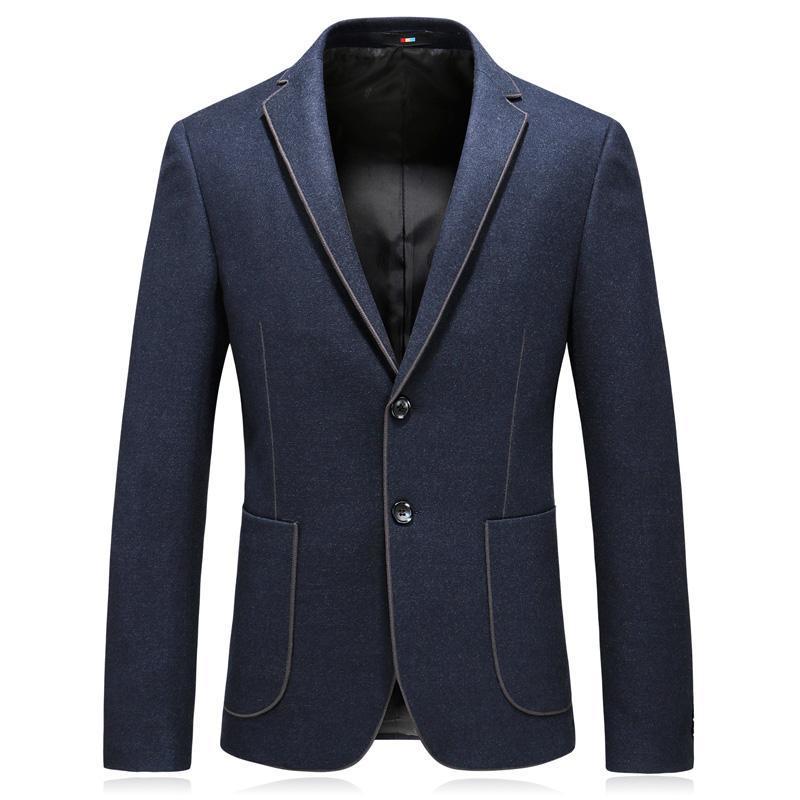 Automne et Hiver Beau Nouveau Hommes Mode Boutique Solide Couleur Slim Business Casual Blazer Homme Veste de costume / Épaissir Hommes Blazer