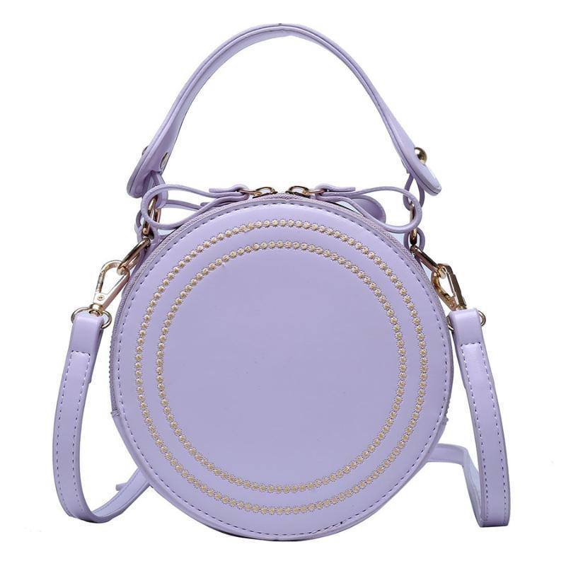 Sac fourre-tout bandoulière femme sac à sacs à main femelle sacs à bandoulière pour femmes sac de haute qualité cuir rond simple mode LJHLB