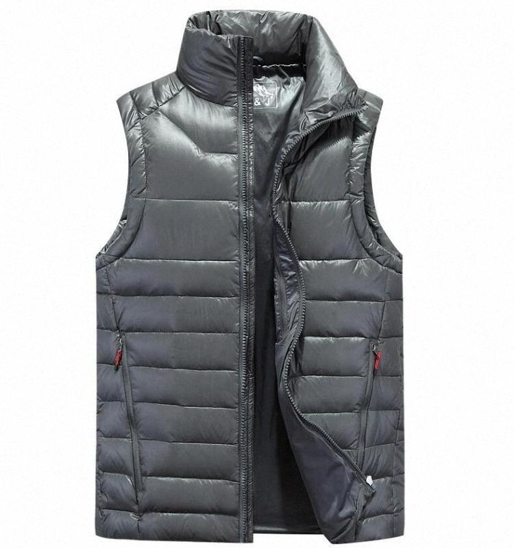 2020 New ZNG Gilets d'homme 4 Couleur Vestes d'hiver Gilet Homme Mode sans manches solides Manteau Zipper Pardessus Vestes chaud xtDp #