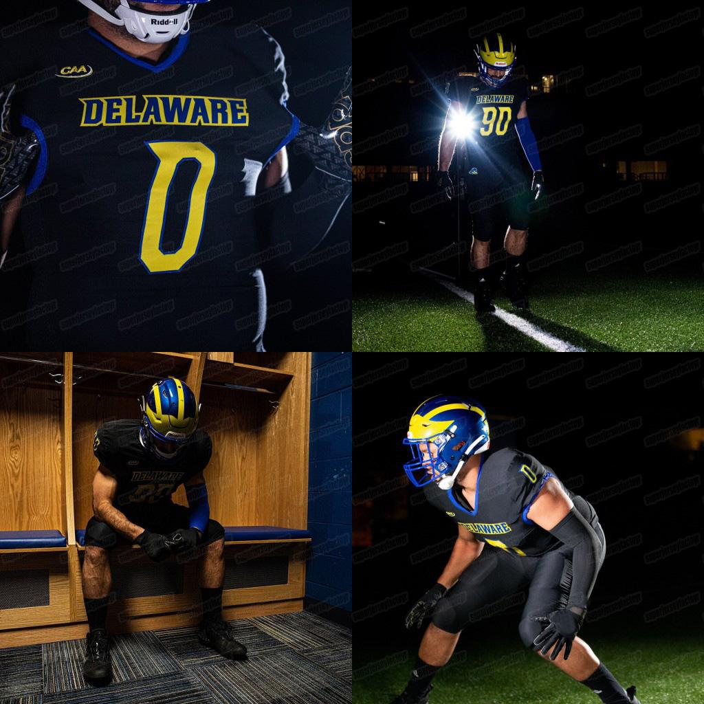 2020 Delaware Galinhas Blue Pat Kehoe Will Knight Thyrick Pitts Kedrick Whitehead Tim Poindexter Dejoun Lee Ncaa Jersey American Football