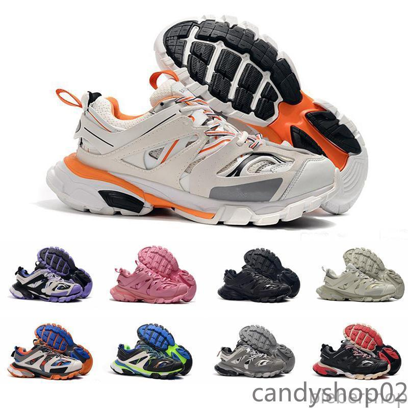 Top Quality Track Release 3.0 Tess S Paris Triple S Sneakers Clear Sole Rosa Mens Mulheres Sneakers Treinadores Tripler 36-45 Ca02