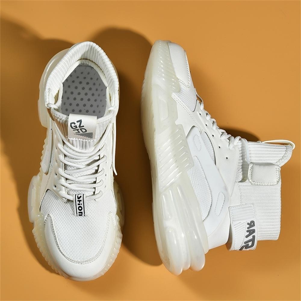 Erkekler için Sönümleme Sneakers Yüksek Üst Koşu Ayakkabıları Erkek Rahat Spor Atletik Açık Yürüyüş Jogging Spor Lace Up Zapatos