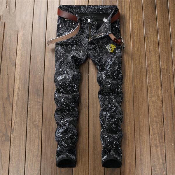 Top Fashion Mens Distress Ripped Skinny Jeans Designer Slim Fit Denim Destroyed Denim Hip Hop Pants For Men good quality