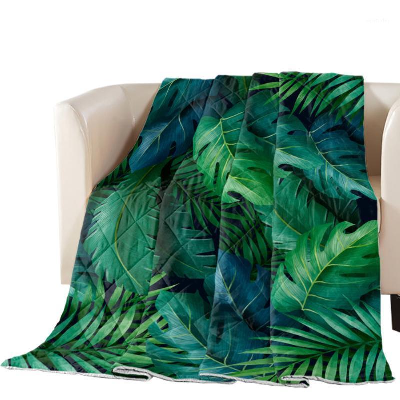 Plantas Summer Jungle Impreso de gran tamaño Edredón de verano Colcha Cubierta Cubierta Manta Edredón Casa Casa Casa Adultos Home Textiles1