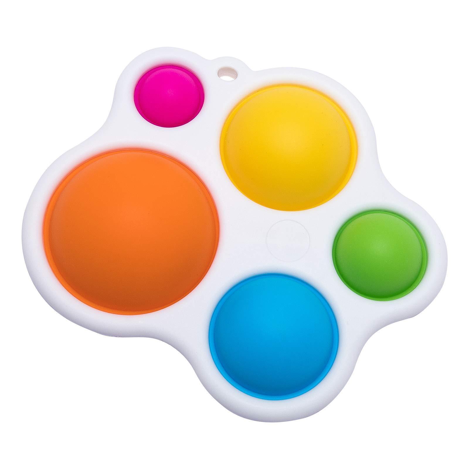 Simples Dimple Fidget Popper Brinquedos, Pop Fidget Push Pop Silicone Sensory Brinquedos, Infantil Educação Antecipada Areia Atenção Brinquedos