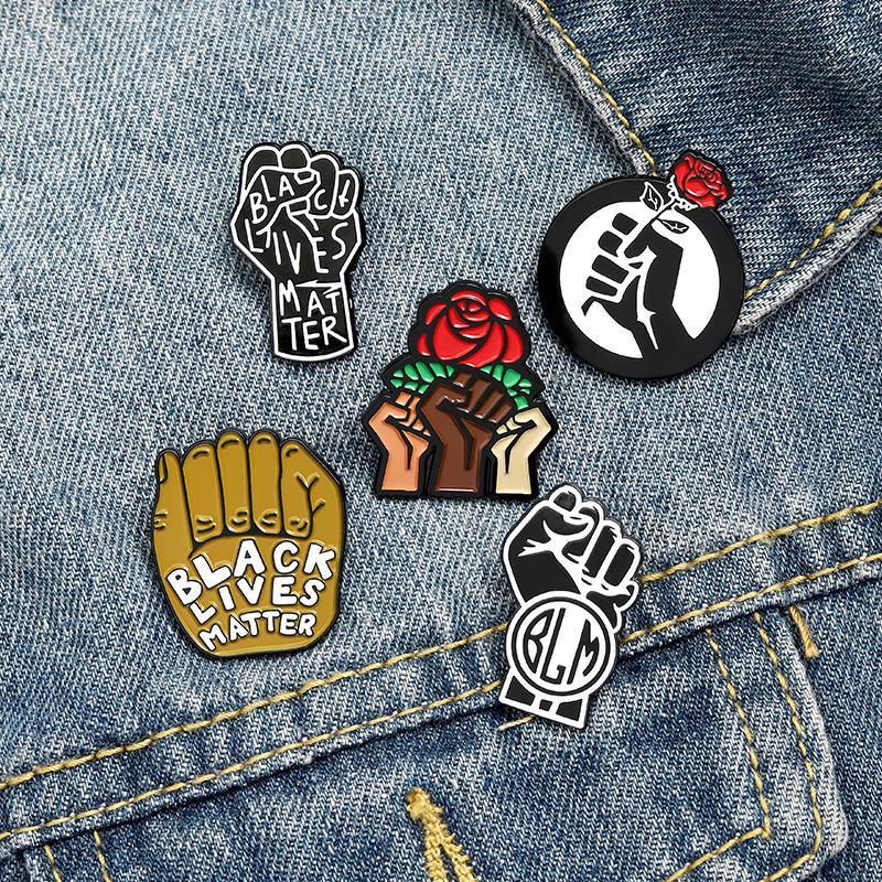Kadınlar Kız Moda Takı Aksesuar Metal Vintage Broş iğneler Rozet Toptan Hediyesi için Punk Tarzı Gül Çiçek Emaye Broş Pin