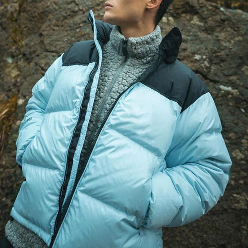 2020 новых людей зимы вниз пальто куртки женщин способа вниз куртка телогрейки Синий Желтый Пара Толстая теплая зима Верхняя одежда Размер S-2XL